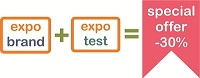Discount -30% for simultaneous order services ExpoBrand and ExpoTest